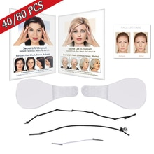 40/80/100 Pcs/Set Women Makeup Invisible V-Line V Face Shape Stickers Slimming Tools Lines Neck Chin