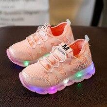 KushyShoo 2020 New Spring and Summer Children Shoes Light Led Shoes Girls Sports Shoes Toddler Boy Shoes Tenis Infantil