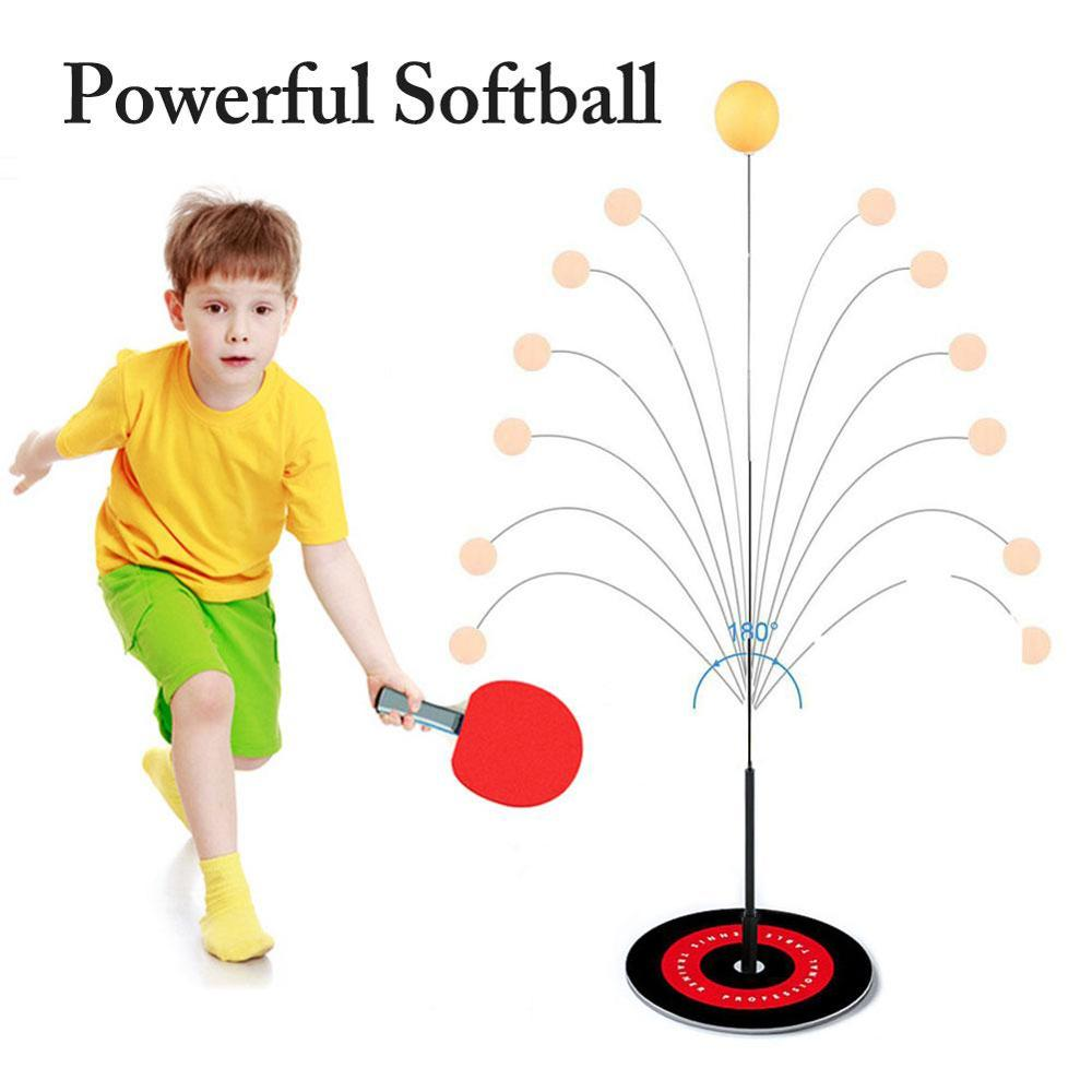 magideal sucker base table tennis stroking training aid trainer action practice machine strong stability and good flexibility Portable Table Tennis Trainer Table Tennis Soft Shaft Training Machine Elasticity Kid Adult Ping Pong Practice Trainer Durable