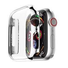 Custodia cover per Apple Watch series 6 SE 5 4 3 44mm/40mm accessori per orologi con protezione dello schermo iwatch