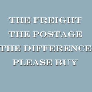 The freight The postage The difference Please buy