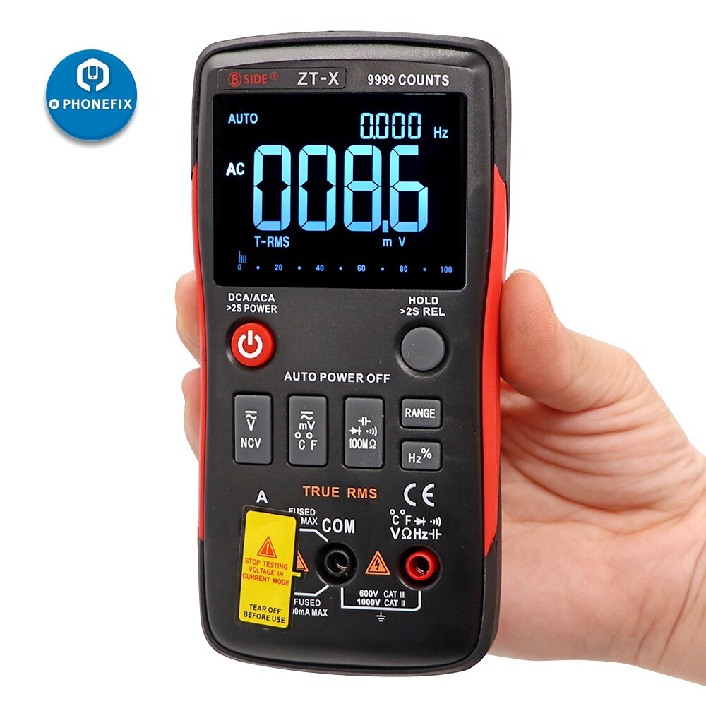 LCD Digital Multimeter for DMM DC/AC Voltmeter Ammeter Ohm HZ Temperature Tester with LCD Backlight Display Digital Multimeter