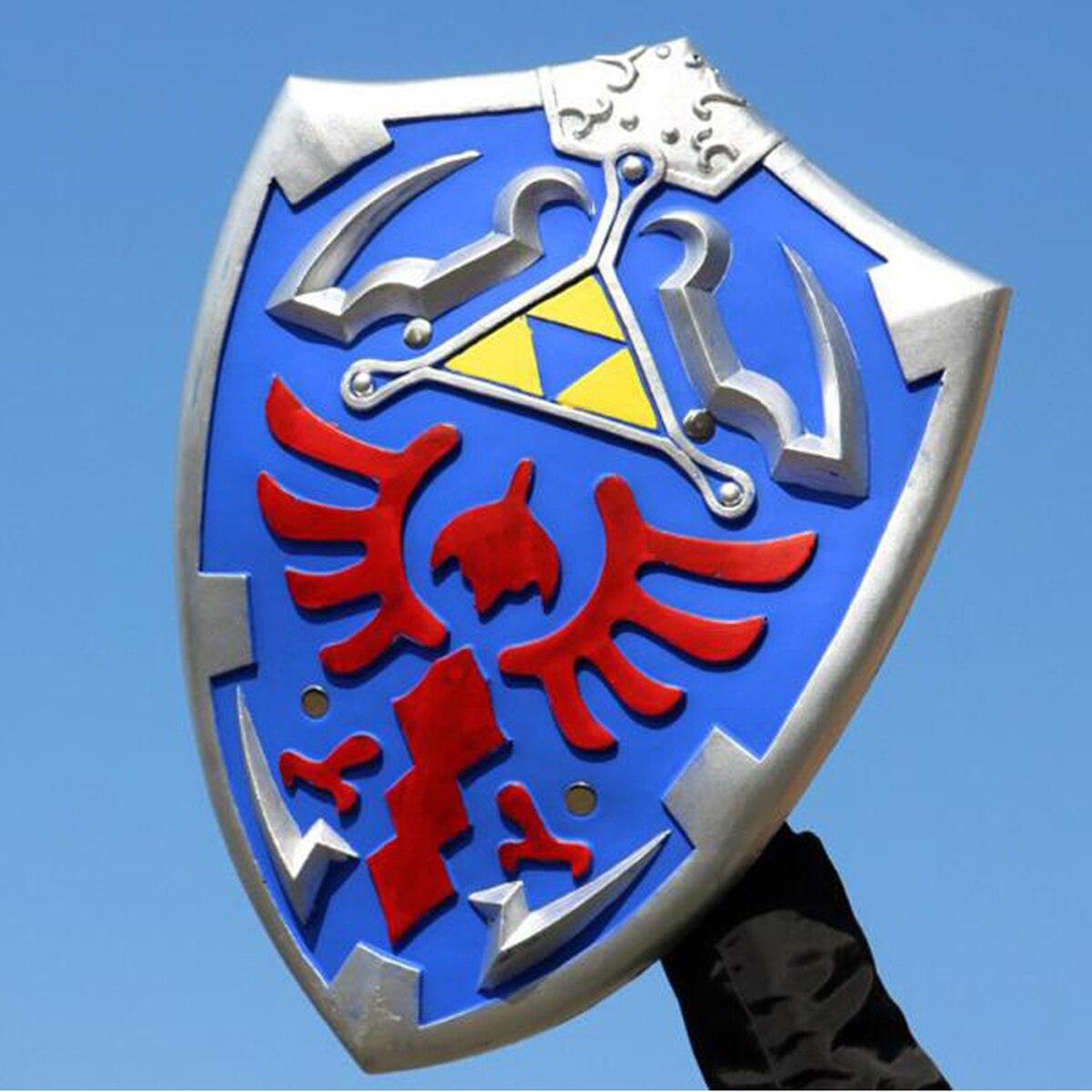 Halloween accesorios para Cosplay leyenda de Zelda Cosplay accesorios hacia el cielo escudo y espada enlace de seguridad arma espada juguetes para niños de regalo
