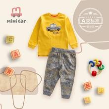 Mini Car children's wear children's suit infant T-shirt Pants Set baby clothes cover two pieces