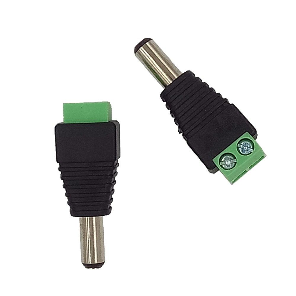 Evolylcam 2 pièces/lot CCTV BNC accessoires professionnel mâle convertisseur de courant continu pour la Surveillance du système de caméra de vidéosurveillance