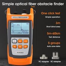 COMPTYCO AUA28U/28A Mini 60KM réflectomètre à fibres optiques OTDR à fibres optiques construit en VFL avec contact FC SC