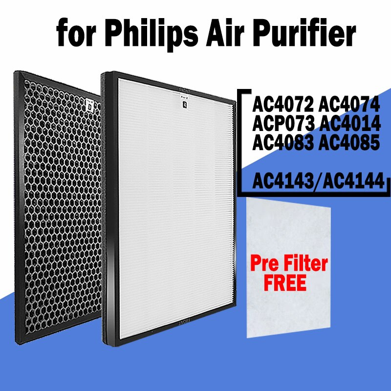 Replacement AC4143 AC4144 Ture HEPA Carbon Filter For Philips AC4072 AC4074 ACP073 AC4014 AC4083 AC4085 AC4086 Air Purifier 2pcs