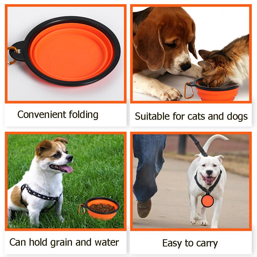 1000ml castron pentru animale de companie pliabil silicon caine de - Produse pentru animale de companie - Fotografie 6