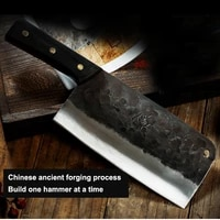 hand forged chopping knife multipurpose kitchen knife chef slicing knife kitchen meat knife fish raw knife tang knife