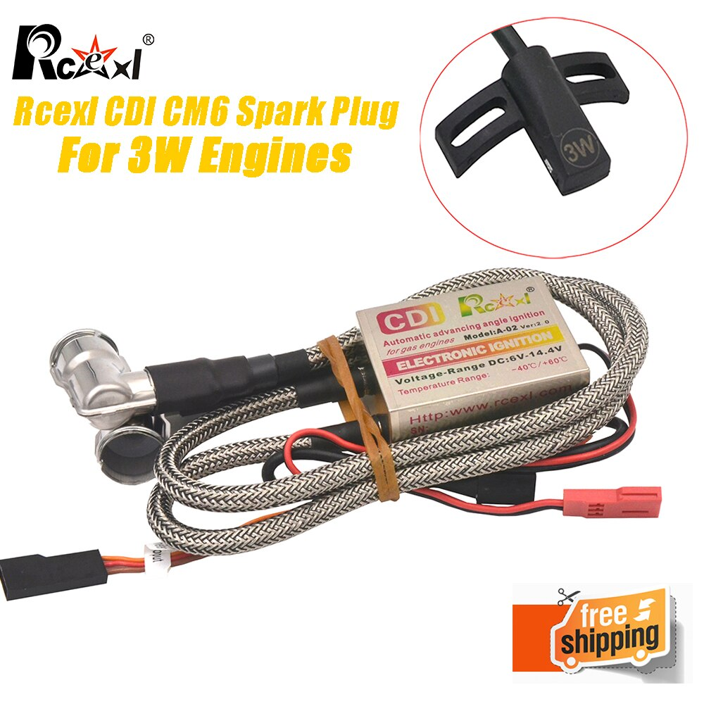 RCEXL CDI Single/ Twin Ignition With Sensor Kit CM6 90 Degree 6v-12v For 2008 After The 3W Engines