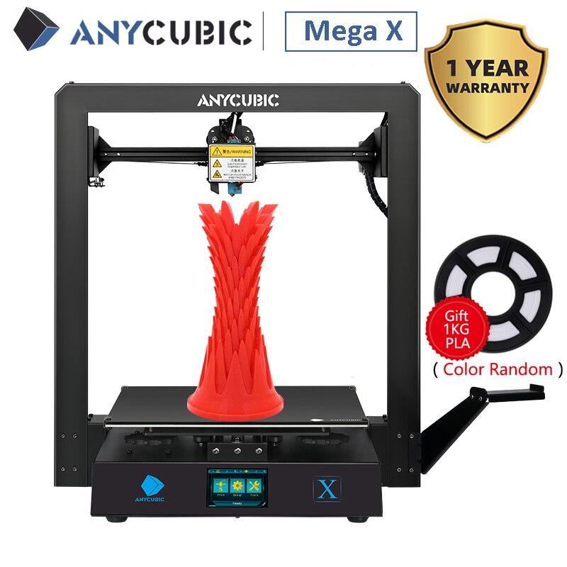 Anycubic I3 Mega X 300*300*305Mm Anycubic 3d Printer Fdm Grote Plus Afdrukken Size Meanwell supply Ultrabase Impresora 3d