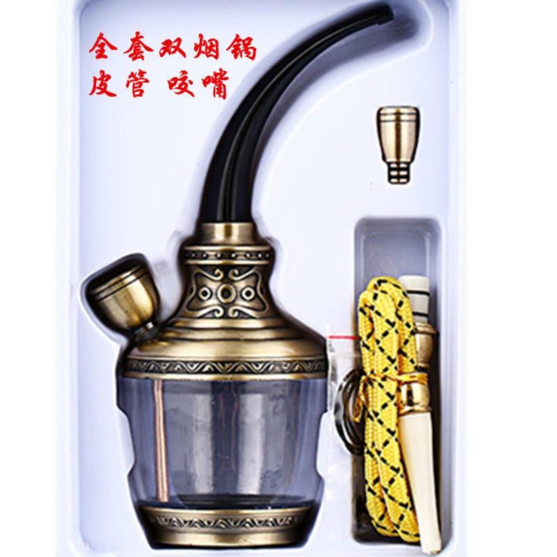New Fashion Hookah Water Filter Dual-Purpose Cigarette Tobacco Pipe Cigarette Cigar Holder Mini Shisha Hookah Smoking Pipes enlarge