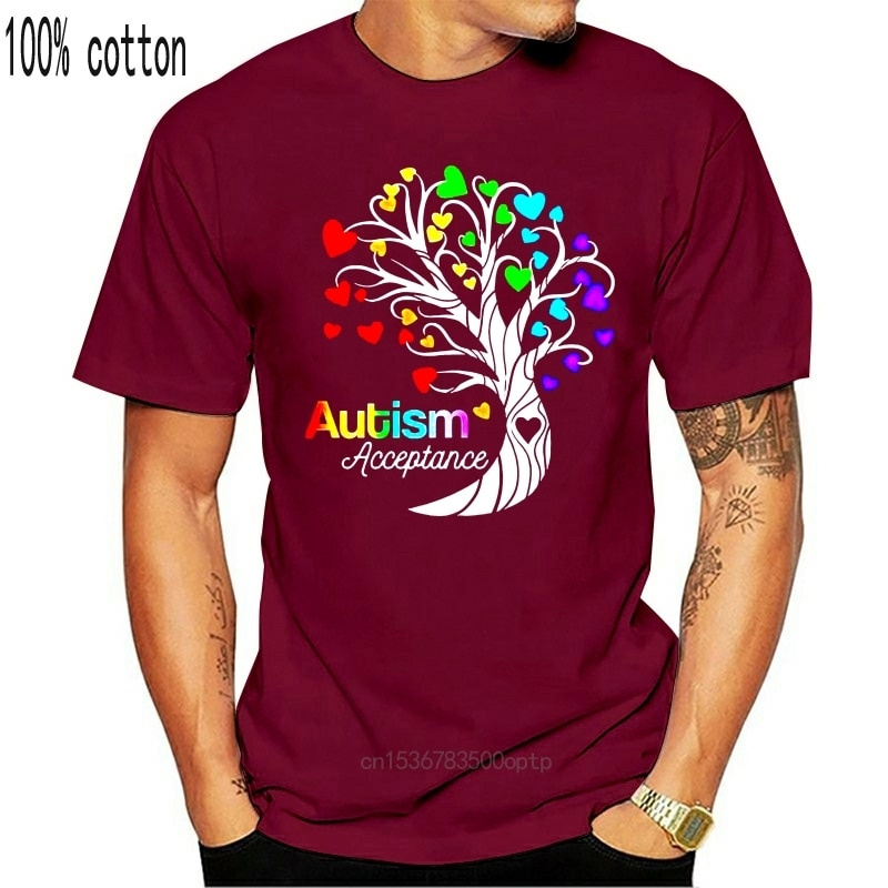 Autismus Akzeptanz Baum des Lebens mit Herzen Frauen Neuheit T-Shirt