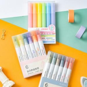 6 Color/set Paint Pen Paint Marker Painted Decoration DIY Album Art Drawing Highlighter Paint Markers Office Supplies Pens