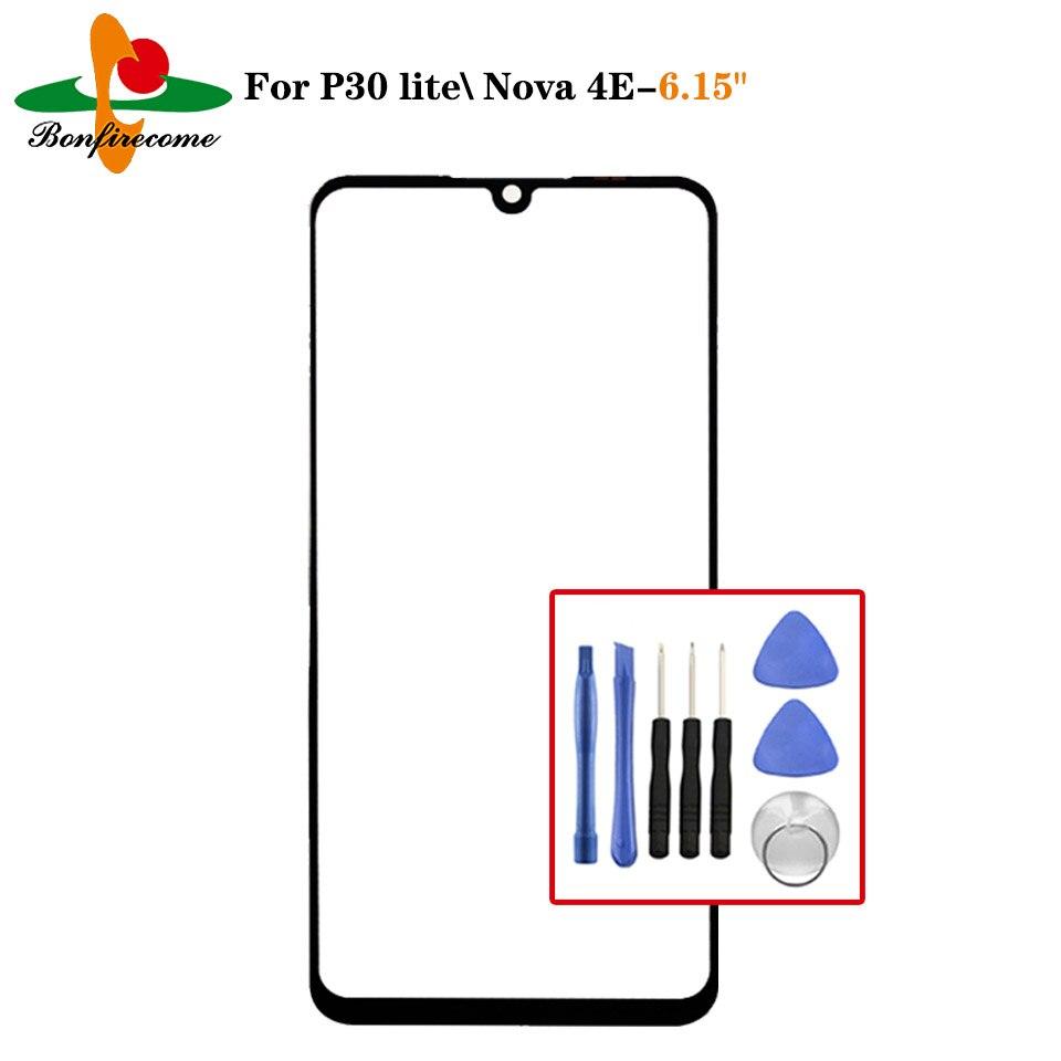 Pantalla táctil de cristal para Huawei P30 Lite MAR-LX1A/Nova 4E LCD Panel de visualización frontal lente de cristal exterior reemplazo