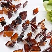 2strandslot natural smooth dark orange agate rectangle loose beads for diy bracelet necklace jewelry making strand 15