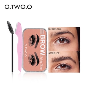O.TWO.O Eyebrow Soap Wax With Trimmer Fluffy  Feathery Eyebrows Pomade Gel For Eyebrow Styling Makeup Soap Brow Sculpt Lift