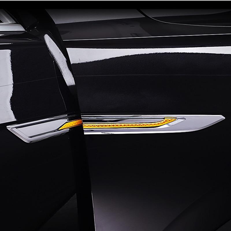 Car Carbon Fiber Side Leaf Flank Decorative Label Protection Frame for Volkswagen VW Touareg 2021 2020 2019 Car Accessories