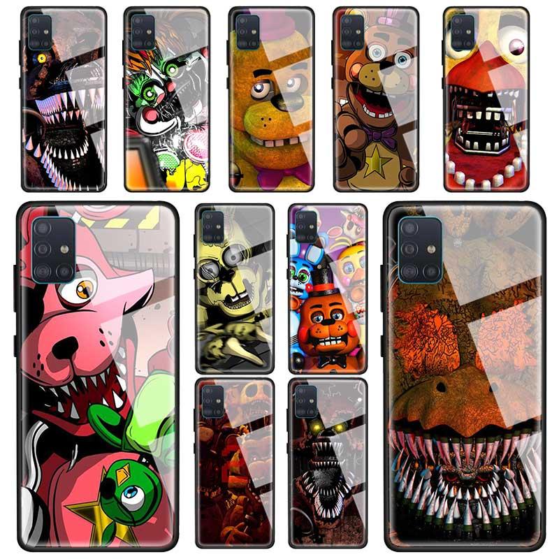 Cinco Noites Na Fnaf do Freddy Freddy capa Samsung Galaxy A51 A71 5G UW A50 M51 A40 A11 a21s A31 A41 A10 A70 Tampa Do Telefone de Vidro