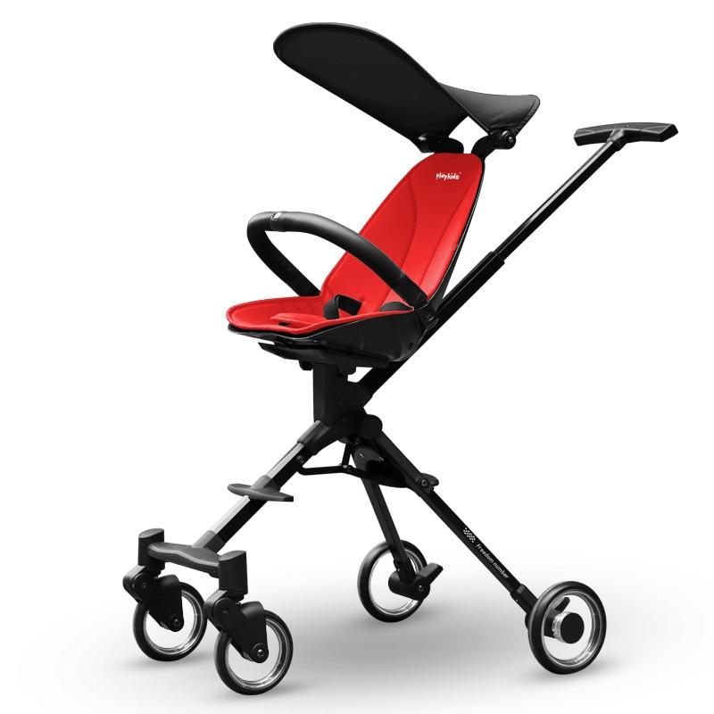 لطيف المشي الطفل قطعة أثرية يمكن اتجاهين عالية الرؤية عربة بسيطة طوي الطفل عربة