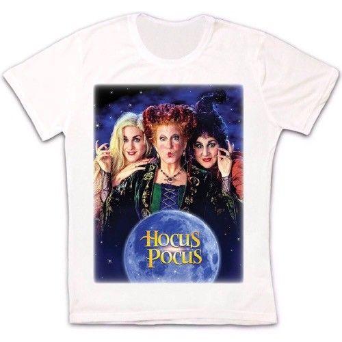 Hocus Pocus Witch, Halloween, 90s, cartel de película Retro, Vintage, camiseta Unisex para hombres, mujeres, hombre, hip hop, camiseta de camuflaje