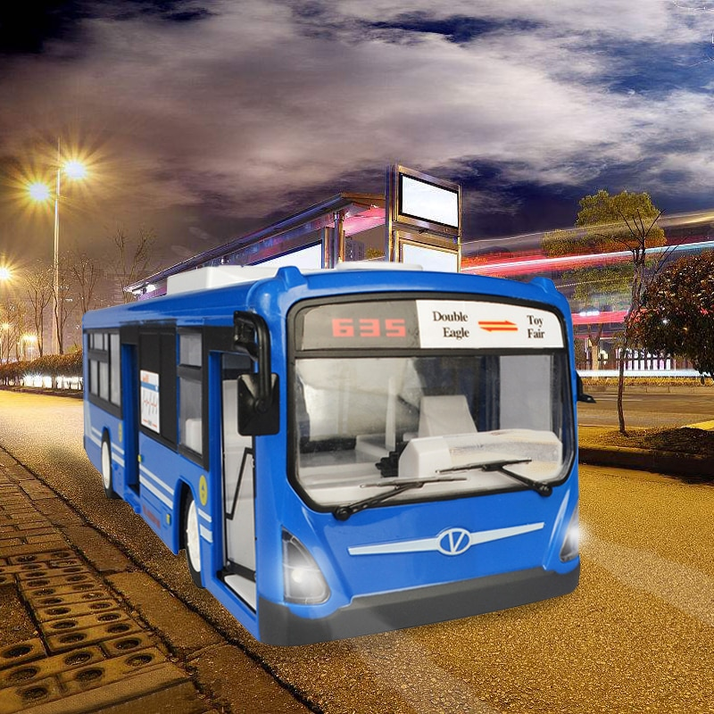 RC Car 6 Channel 2.4G Remote Control Bus City Express High Speed One Key Start Function Bus with Realistic sound and Light enlarge