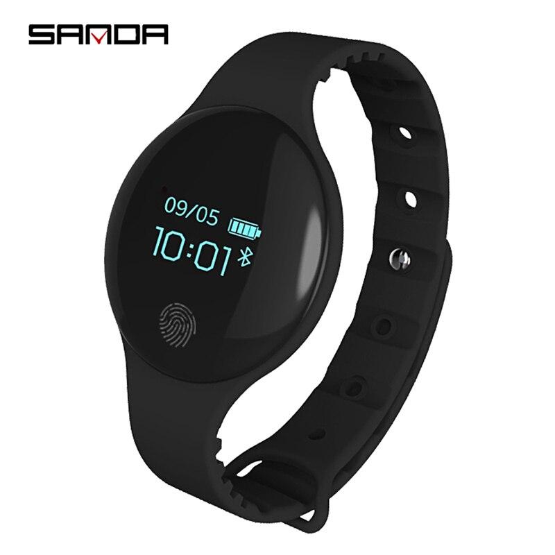 Horloge para Ios Sanda Inteligente Bluetooth Stappenteller Braçadeira Esporte Led Digital Silicone Macio Android Bericht Herinnering