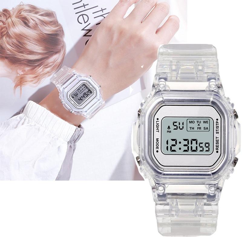 Часы женские Аналоговые электронные, стильные светодиодные цифровые, наручные