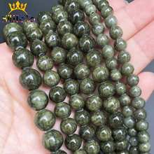 Perles de pierre Jades vert herbe ronde perles despacement en vrac naturel pour la fabrication de bijoux accessoires de bracelet à bricoler soi-même 15 brins 6/8/10mm