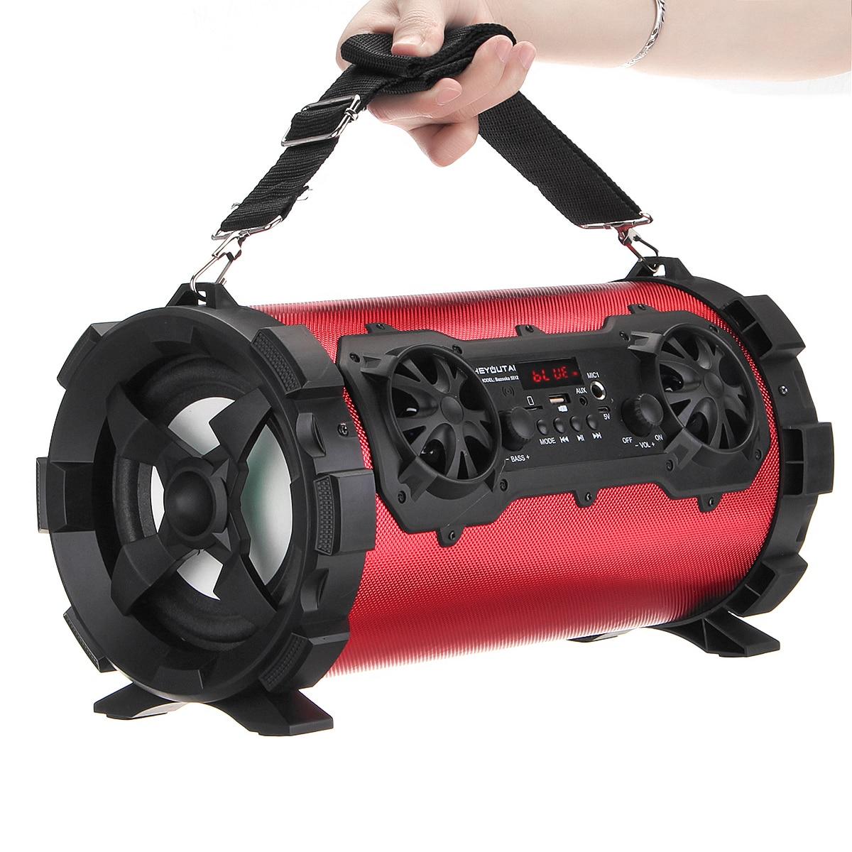 Speaker bluetooth Wireless Stereo Bass Portable HIFI Speaker Subwoofer AUX USB TF Card FM Radio Outdoor Bike Car Karaoke Player enlarge