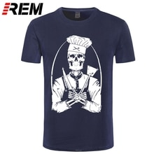REM mode T-Shirt crâne cuisinier crâne cuisinier Chef cuisinier cuisine noir S M L XL XXL T-Shirt