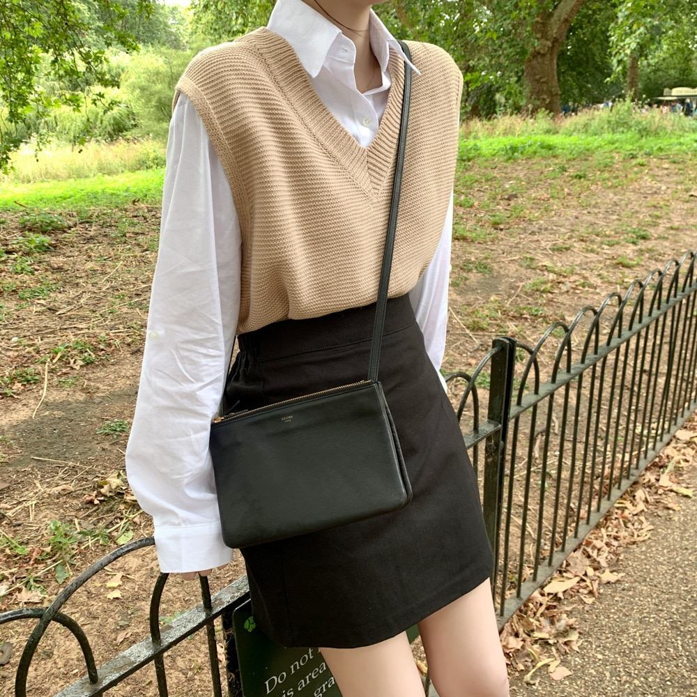 solid loose sweater spring autumn Women's vest knitted vest v neck joker knitted vest womens vests winter outerwear plus size