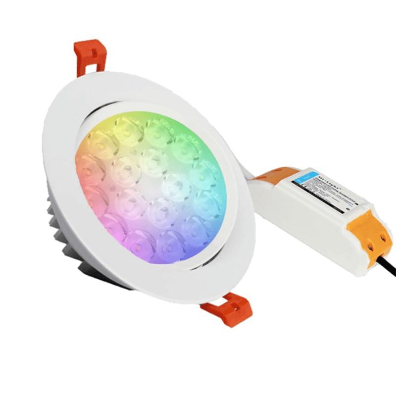 fut062 milight miboxer 9w rgb cct led teto spotlight