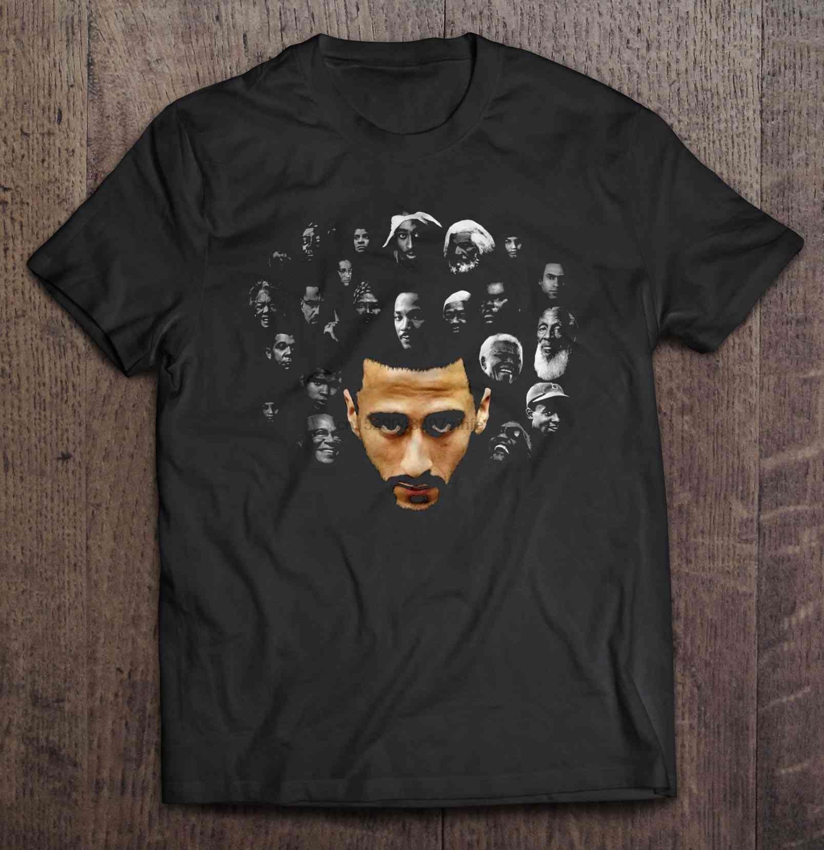 Camiseta de hombre Colin Kaepernick con iconos de Historia Negra camiseta de mujer