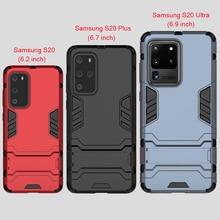 Pour Samsung Galaxy S20 + S 20 Ultra housse de béquille robuste étui pour Samsung S20 Plus étui Silicone Protection complète armure