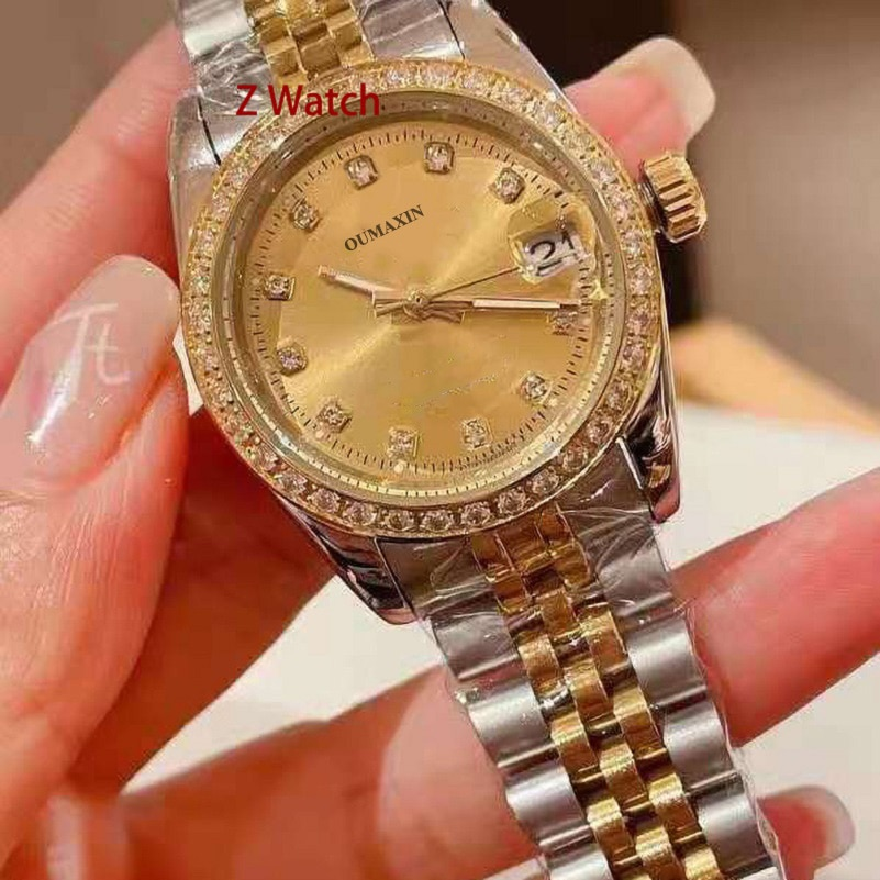 Big brand 31mm high quality ladies watch automatic machine black dial imported 316L stainless steel B12633 clock enlarge
