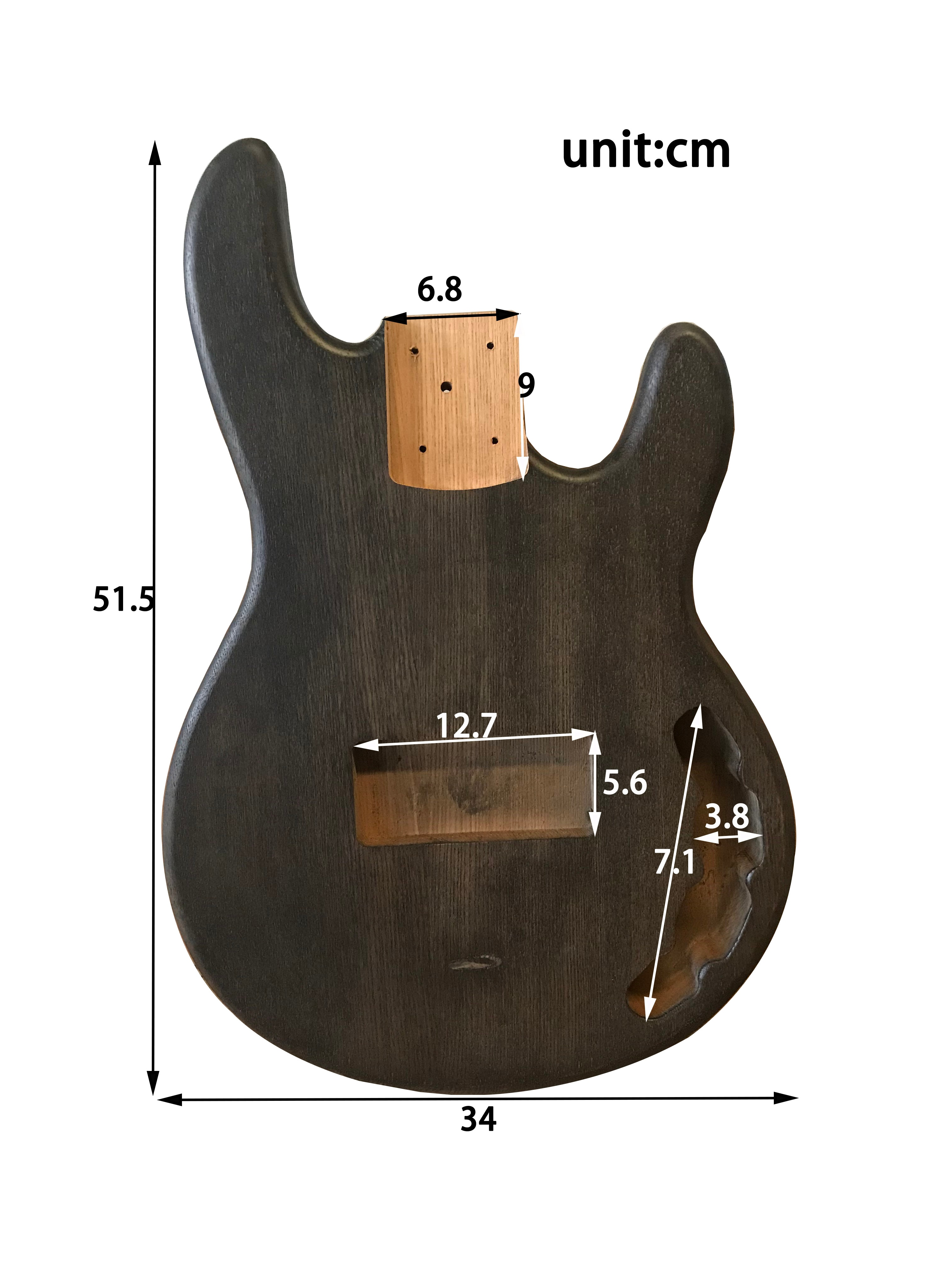 Collection Level Electric Bass Guitar Body 41 Inch ST Bass Body High Quality ST Bass Panel Electric Guitar Barral Replacement enlarge