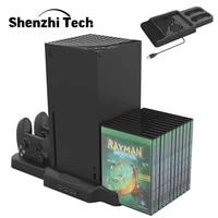 vertical cooling stand for xbox series sx dual controller charging docking station with game storage for xbox series xs