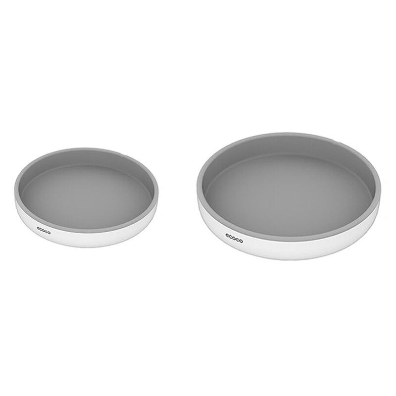 Ecoco 2 قطعة الدورية تخزين الرف التوابل المنظم الجرف النفط واقية عدم الانزلاق لوازم المطبخ حامل رمادي S & L