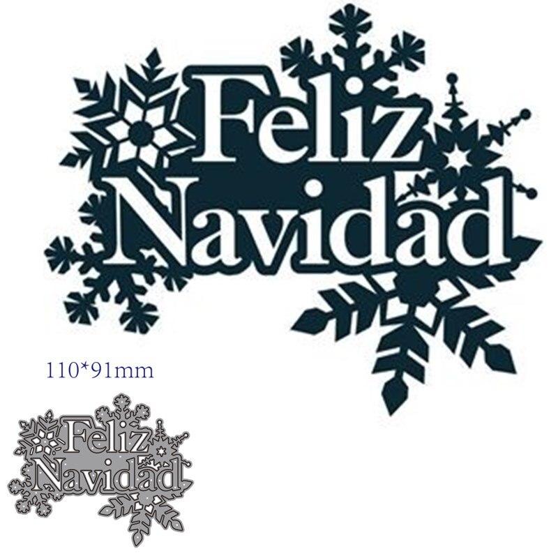 Troqueles de corte de metal, plantilla para decoración de Navidad, recortes, molde...