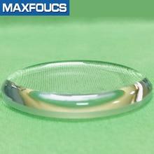 Bubbl verre minéral avec chanfrein Skx007 SKX009 SKX011Crystal montre verre 200M plongeur pièces de rechange bleu arrevêtement pour Seiko