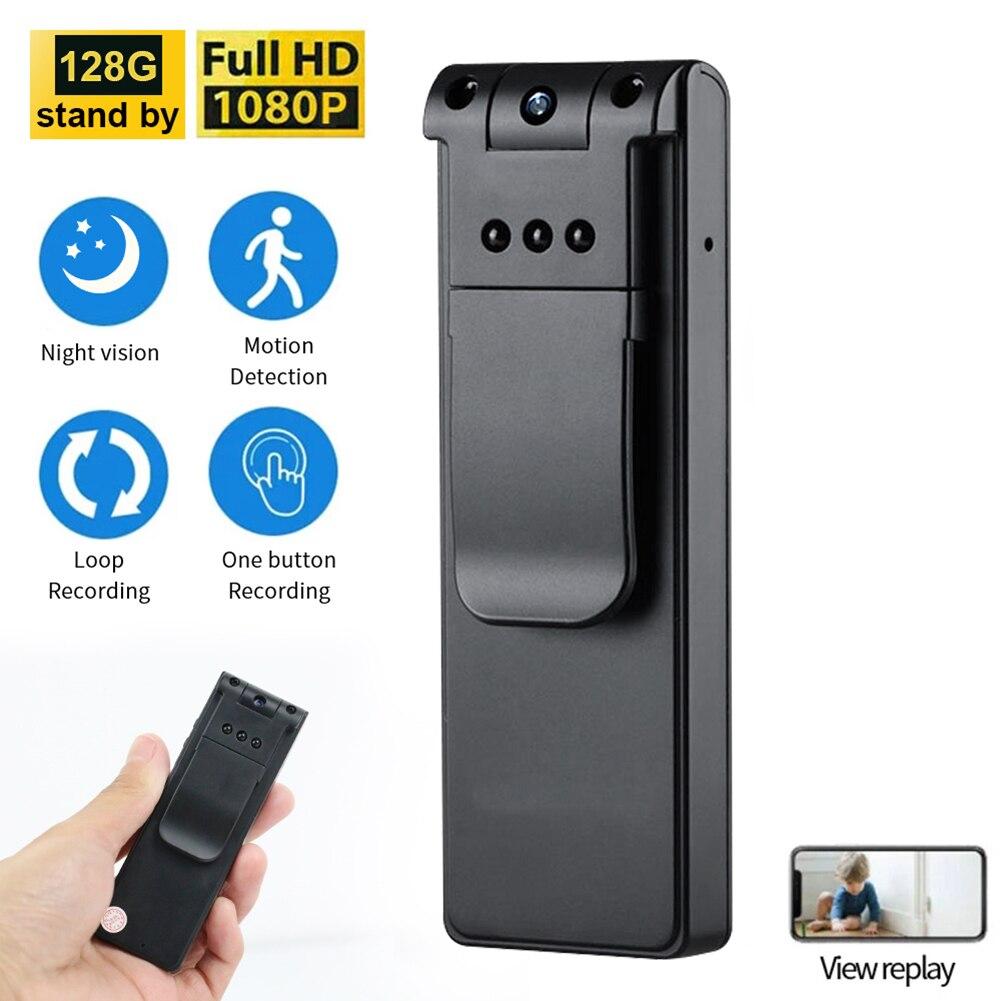 Horas Mini Câmera Portátil 1080p hd dv Filmadora Wearable Visão Noturna Infravermelha Bolso Digital Dvr Cam Micro Camcorder 8 Usb