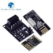 TZT NRF24L01 + module de transmission de données sans fil 2.4G/la version de mise à niveau NRF24L01 2Mbit/s NRF24L01 carte de plaque adaptateur de prise
