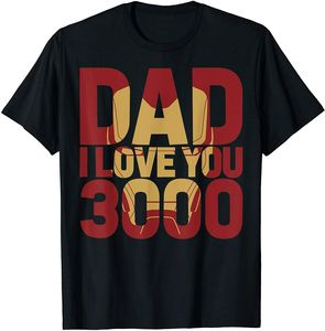 Iron Man Dad I Love You 3000 Text Fill Father's Day T-Shirt Vintage Men Gift Tee t shirts men 2020 summer