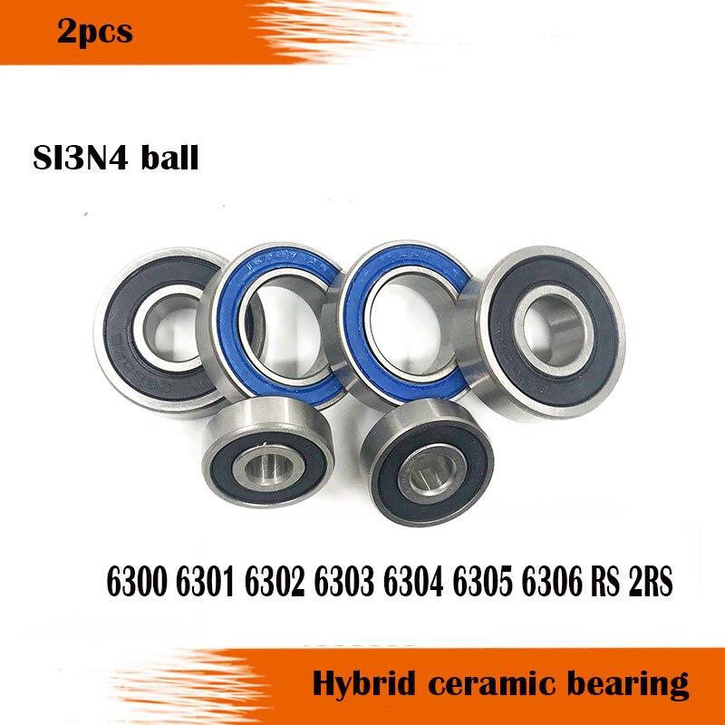 Shippng الحرة 2 قطعة 6802 2RS Si3N4 الهجين محمل كروي سيراميك المطاط مختومة 61802 أجزاء الدراجة 15x24x5 مللي متر 6802 rs
