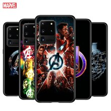 Marvel Avenger A for Samsung Galaxy Note 20 Ultra 10 9 8 Pro Plus F62 M60S M40 M31 M20 M02 Black Phone Case