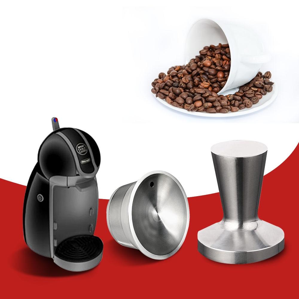 Cestas de filtro de cápsulas de café rellenables Dolce Gusto de acero inoxidable, cestas de goteo reutilizables, accesorios de cocina, regalo de Navidad