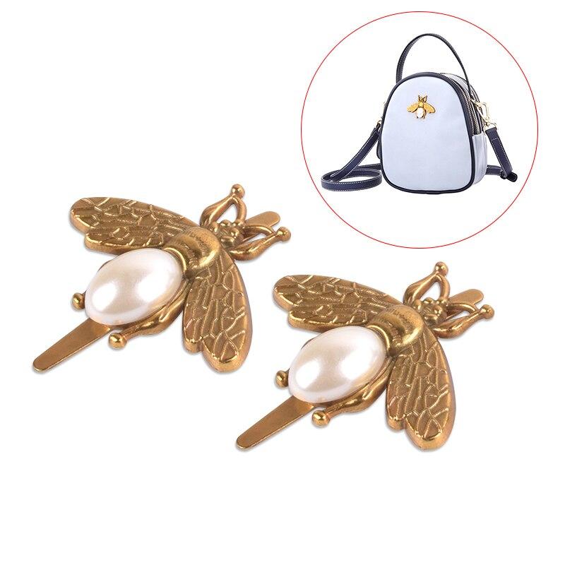 2x багажные аксессуары жемчужная пчела металлическая пряжка для украшения насекомых животных