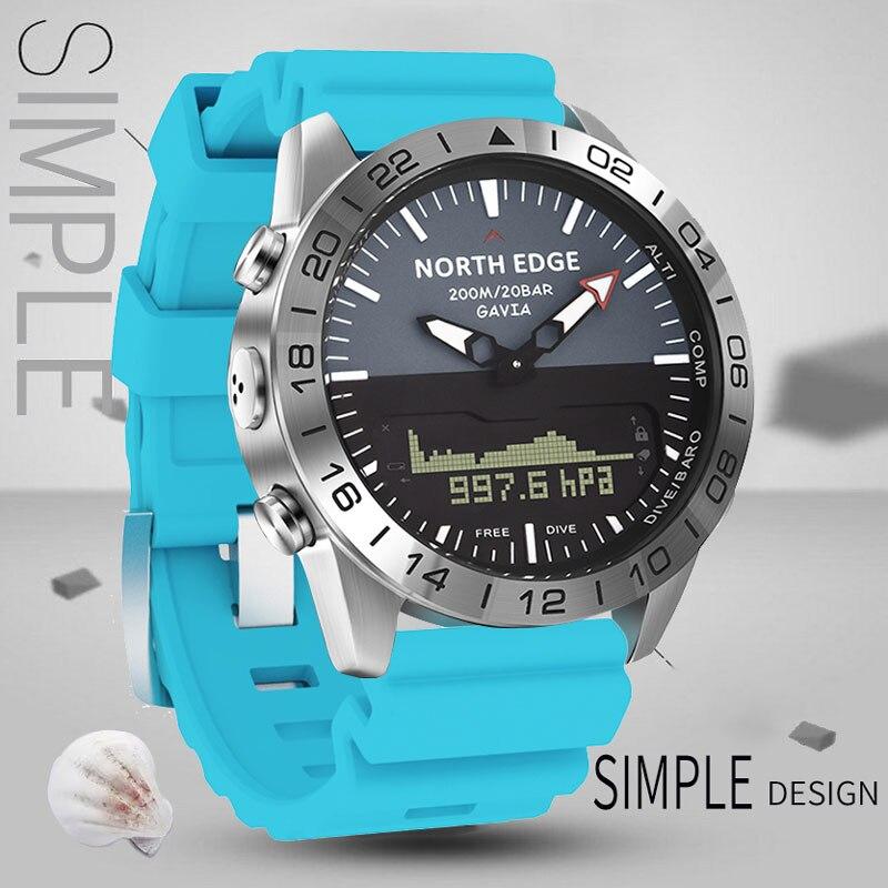 Relógio para Homem Relógio de Pulso 200m à Prova Dwaterproof Água Mergulho Profissional Relógios Altímetro Bússola Quartzo Relógio Masculino Presentes Originais