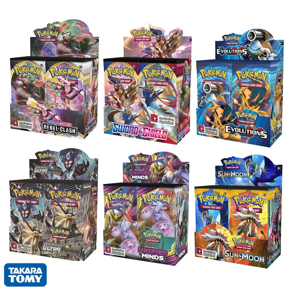 324-pz-scatola-carte-pokemon-sword-shield-sun-moon-xy-tutte-le-ultime-versioni-36-pack-booster-box-giocattoli-da-collezione